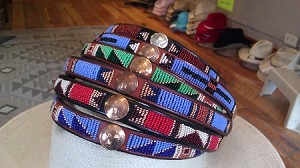 Bead & Vintage Coin on Leather Hatband